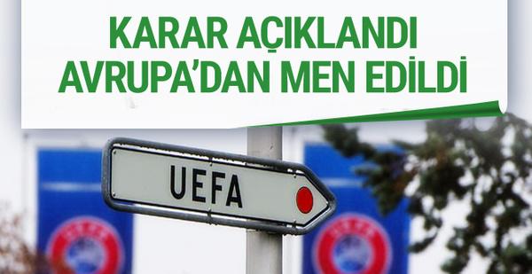 UEFA'dan Sion'a Avrupa kupalarından men cezası