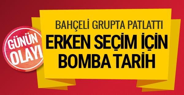 Devlet Bahçeli erken seçim bombasını patlattı! Tarihi de açıkladı