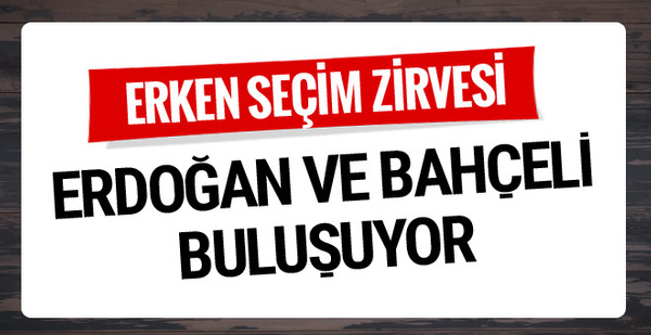 Bahçeli'nin erken seçim çağrısına AK Parti'den ilk tepki....