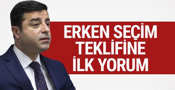 Demirtaş'tan çok konuşulacak 'erken seçim' yorumu