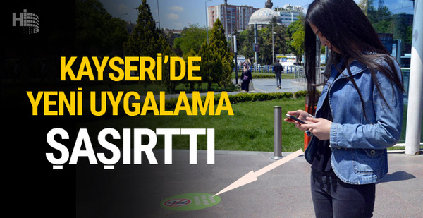 Kayseri'de uyarı yazısını görenler şaşkınlık yaşadı