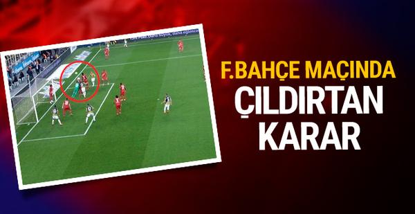 Fenerbahçe maçında tartışma yaratan ofsayt kararı
