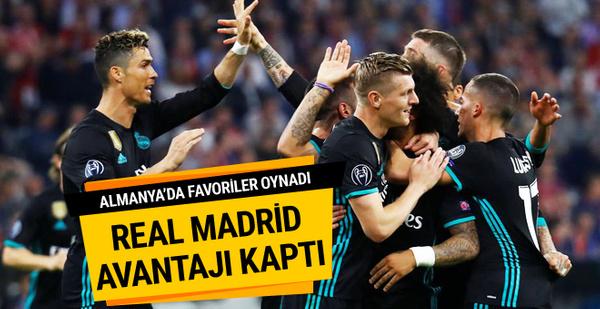 Real Madrid Almanya'da avantajı kaptı