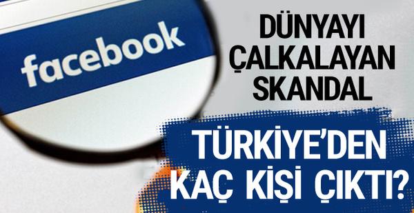Facebook skandalı Türkiye'den 223 kişinin bilgileri çıktı