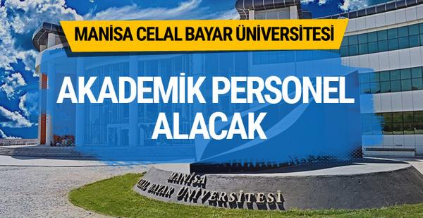 Manisa Celal Bayar Üniversitesi Akademik Personel Alacak