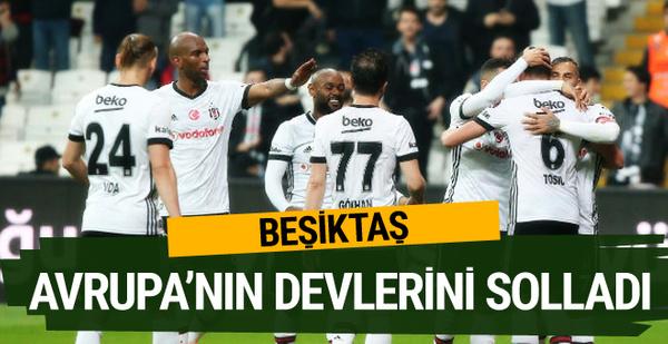 Beşiktaş Avrupa'nın devlerini solladı!