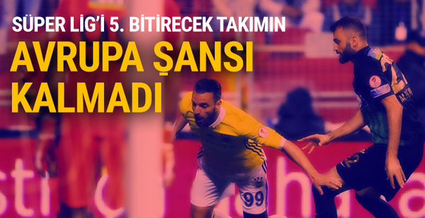 Spor Toto Süper Lig'de 5. sıranın önemi kalmadı!