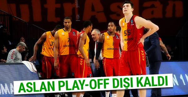 Galatasaray Odeabank play-off dışında kaldı