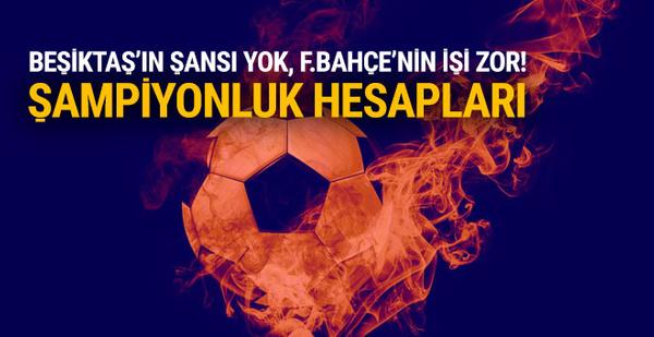Beşiktaş'ın şampiyonluk şansı kalmadı!
