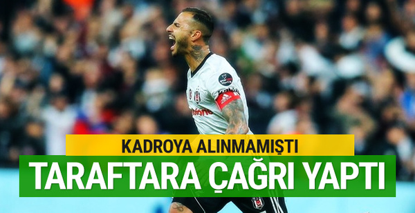 Ricardo Quaresma'dan Beşiktaş taraftarına çağrı!