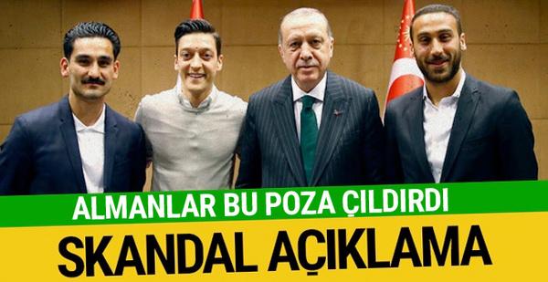 Almanya futbol federasyonundan Erdoğanlı poza skandal açıklama!