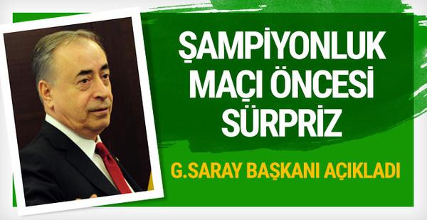 Galatasaray'dan dev şölen! Başkan açıkladı