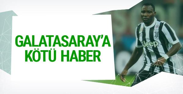 Asamoah'tan Galatasaray'a kötü haber
