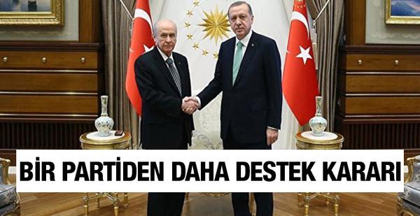 Bir parti daha Cumhur İttifakı'na destek kararı aldı