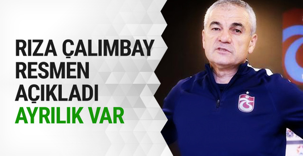 Trabzonspor'da Rıza Çalımbay dönemi sona eriyor