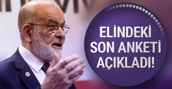Karamollaoğlu partisinin yaptırdığı 24 Haziran anketini açıkladı!