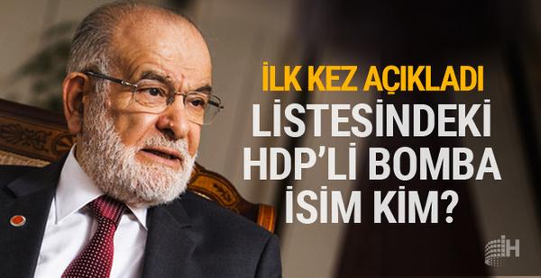 Karamollaoğlu listesindeki HPD'li sürpriz ismi açıkladı!