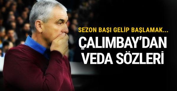 Rıza Çalımbay'dan Trabzonspor'a veda sözleri!