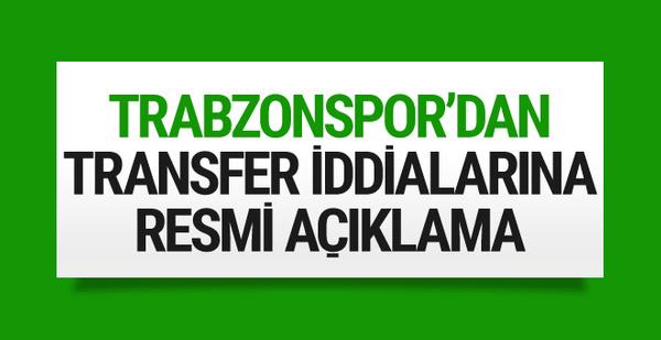 Trabzonspor'dan transfer iddialarına resmi açıklama!