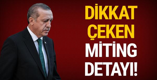 Erdoğan'ın Erzurum geleneği: Dikkat çeken miting detayı!