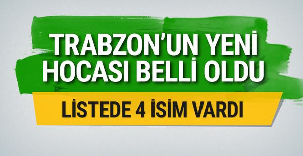 Trabzonspor'un yeni hocası belli oldu