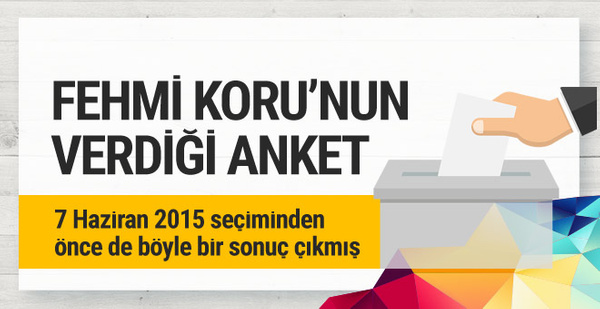 24 Haziran seçimini kim kazanır? Fehmi Koru'dan anketli veri