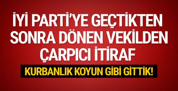 CHP'ye Dönen Milletvekilinden itiraf: Kurbanlık koyun gibi gittik
