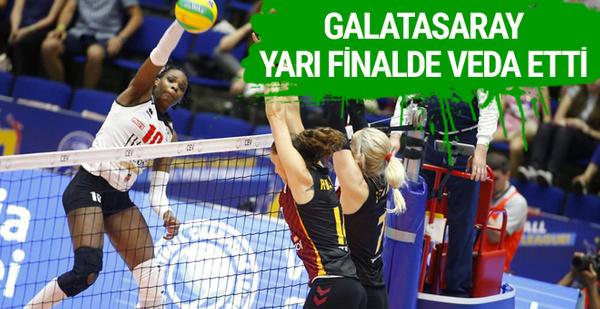 Galatasaray CEV Şampiyonlar Ligi'ne veda etti