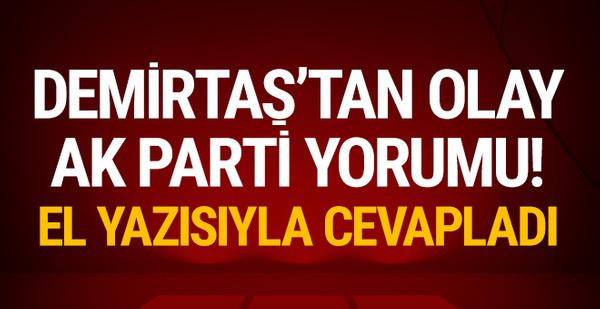 Selahattin Demirtaş'tan olay AK Parti yorumu!