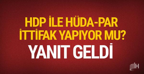 HDP Hüda-Par ile ittifak yapıyor mu? Yanıt geldi