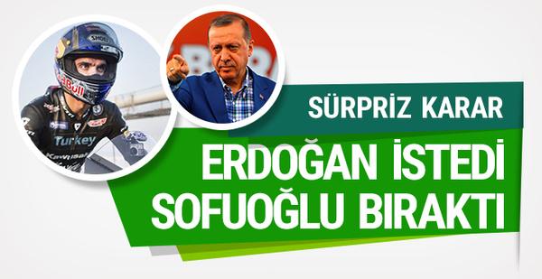 Kenan Sofuoğlu: Cumhurbaşkanımın isteği üzerine...