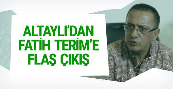 Fatih Altaylı'dan flaş Fatih Terim çıkışı!