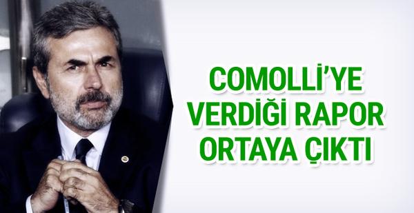 Aykut Kocaman'ın Comolli'ye verdiği rapor ortaya çıktı