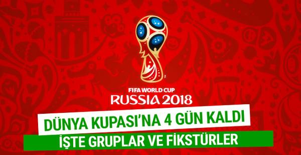 Dünya Kupası grupları ve maç fikstürü