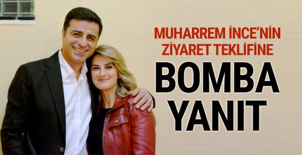 Muharrem İnce'nin ziyaret teklifine Demirtaş'ın eşinden bomba yanıt!