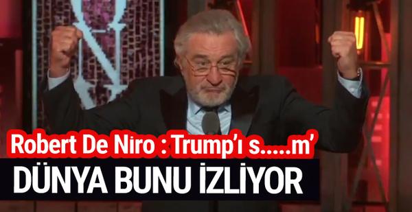 Robert De Niro Trump'a aleni küfür etti işte olay görüntüsü