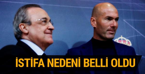 Zidane'ın Real Madrid'den ayrılış nedeni belli oldu