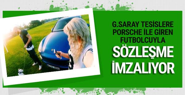 G.Saray tesislere Porsche ile giren futbolcuyla sözleşme imzalıyor