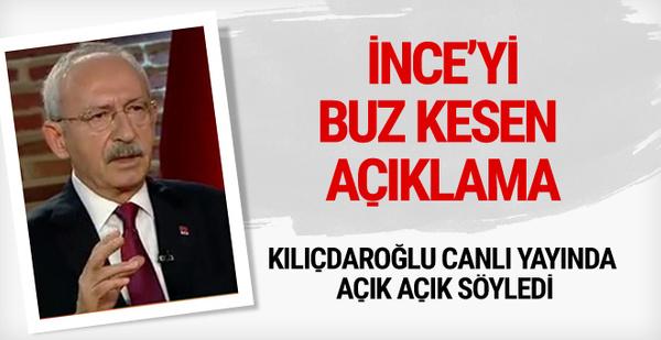 Kılıçdaroğlu'ndan Muharrem İnce'yi şoke eden açıklama