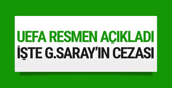 UEFA resmen açıkladı! İşte Galatasaray'ın cezası