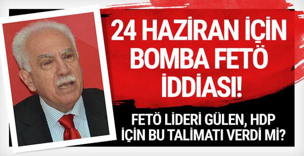 Perinçek'ten 24 Haziran için bomba FETÖ iddiası