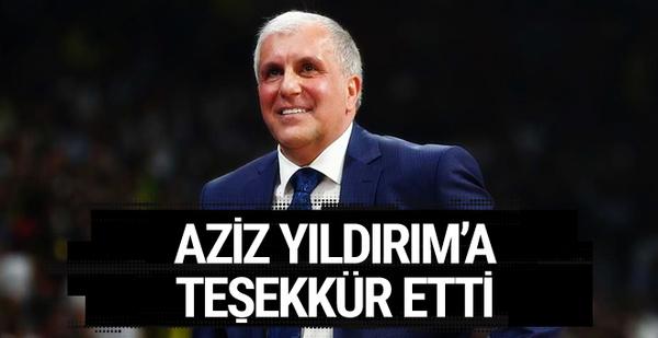 Obradovic'ten Aziz Yıldırım'a teşekkür