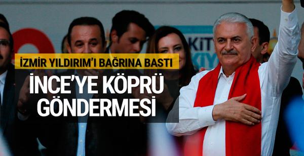 Başbakan Yıldırım İzmir mitinginde konuştu
