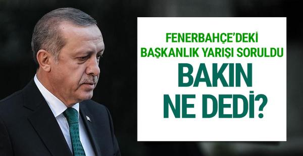 Cumhurbaşkanı Erdoğan'a göre Fenerbahçe başkanı kim olacak?