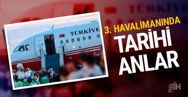 Erdoğan'ın uçağı İstanbul Yeni Havalimanı'na ilk inişini yaptı