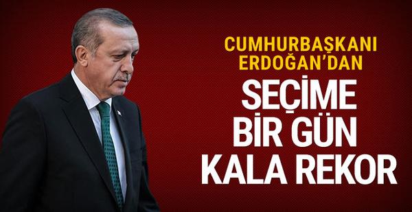 Erdoğan miting rekoru kırdı