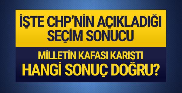 İşte CHP'nin yayınladığı seçim sonuçları hangisi doğru