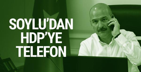 Süleyman Soylu'dan HDP'ye telefon