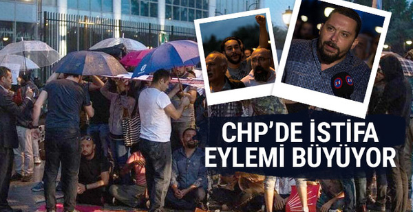 CHP Genel Merkezi önündeki eylem büyüyor