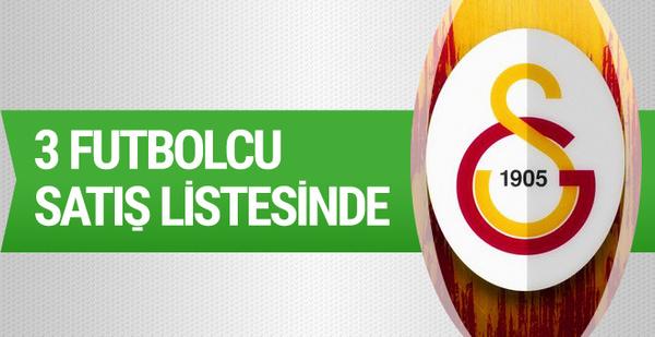 Galatasaray'da 3 futbolcu satış listesinde